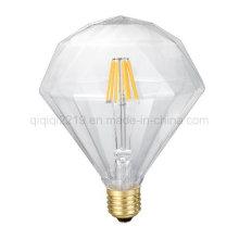 Bulbo claro liso do diodo emissor de luz da decoração do diamante 6W