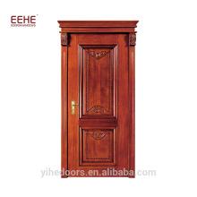 Porta de madeira maciça de carvalho branco cor de jacarandá