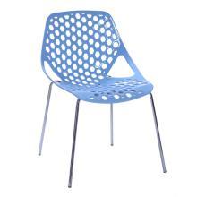Современные пластиковые обеденные стулья с узорчатой спинкой