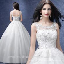Vestido de boda blanco / de marfil barato Vestido Vestidos de Novia más vestido de bola de la boda del cordón del tamaño MW2201