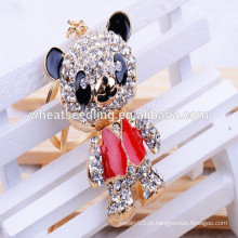 2015 Custom personalizado cristal panda Keychain Maker, atacado Keyring