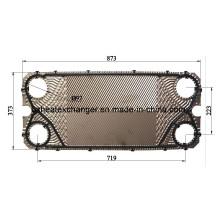Placa y junta de acero inoxidable para intercambiador de calor (M10B / M10M)