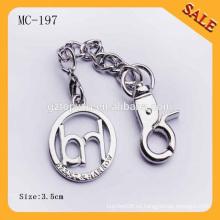 MC197 Nueva etiqueta de encargo del metal del bolso del hardware, marca de la etiqueta del metal con su diseño