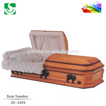 JS-A654 luxury casket box supplier
