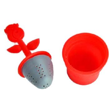 Infusor de silicone, infusor de aço inoxidável, coador de chá, filtro de chá