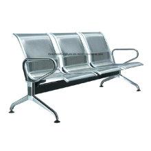 Cadeira de espera em aço inoxidável para cadeira pública com apoio de braço