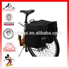Bolsos de silla de montar dobles de la prenda impermeable 37L de 600D / PVC para las bicicletas