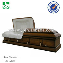 Bois de cercueil Noyer style américain vente chaude