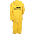 yellow color pvc rainwear suit