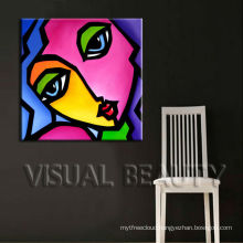 Pop Art Canvas Painting for Bar Decoration
