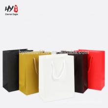 bolsa de asas de papel al por mayor de encargo del logotipo para ir de compras