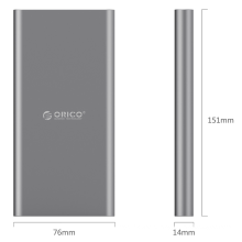 ORICO T1 Type-C 10000mAh Power Bank can charge Type-C port device directly