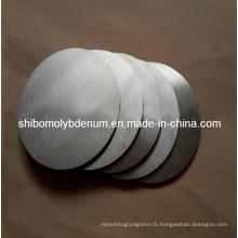 Cercles ronds polis au molybdène (pur à 99,95%)