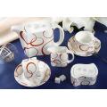15 Pieces Porcelain Coffee Set (LFR6426)