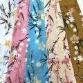 Rayon 45S Screen Print Flower Design Robe Femme