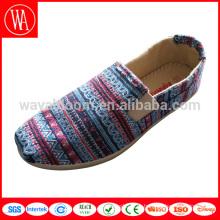 Оптовая скидка с низким верхом на плоской подошве для отдыха Ladies Lady женская обувь холст обувь