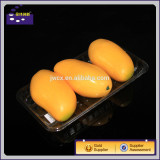 Transparent and clear plastic tray for packing fruits and vegetables