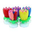 Goedkope Wax Wholesale Happy Musical Flower Candle Party