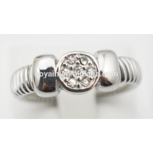 Edelstahl Verlobungsringe billig Kristall Verlobungsringe für Frauen