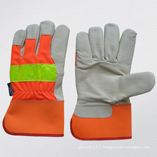 Hi-Vis Pig Grain Leather Thinsulate Lining Winter Glove (3521)