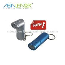 Porte-clés en forme de clapet rotatif conduit avec lumière led