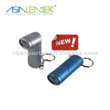 led rotary camping light shaped keychain with led light