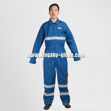 Blue Cotton Anti-Flaming Overall Clothing-Yb1302
