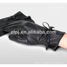 Fashion Lady Sheep Black Gloves cuir