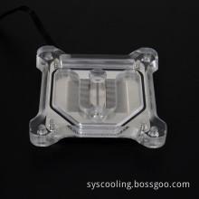 rgb light cpu acrylic cover copper cpu block