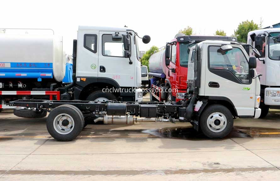 truck mounted water tank chassis 2