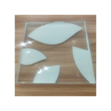 China suppliers back painted white color dot ceramic frit tempered glass price