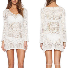 Good Quality Bikini Cover up Sexy Crochet Swimwear Dress (50127)