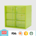 2017 new customized multipurpose plastic boxes storage with 6 grid