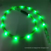 El más nuevo 1.8m verde LED linterna de silicona Hookah Shisha manguera (ES-HH-015-1)