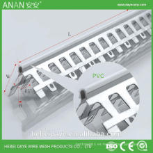 Arco de plata de perforación de estuco de esquina esquina de aluminio para la protección de la pared
