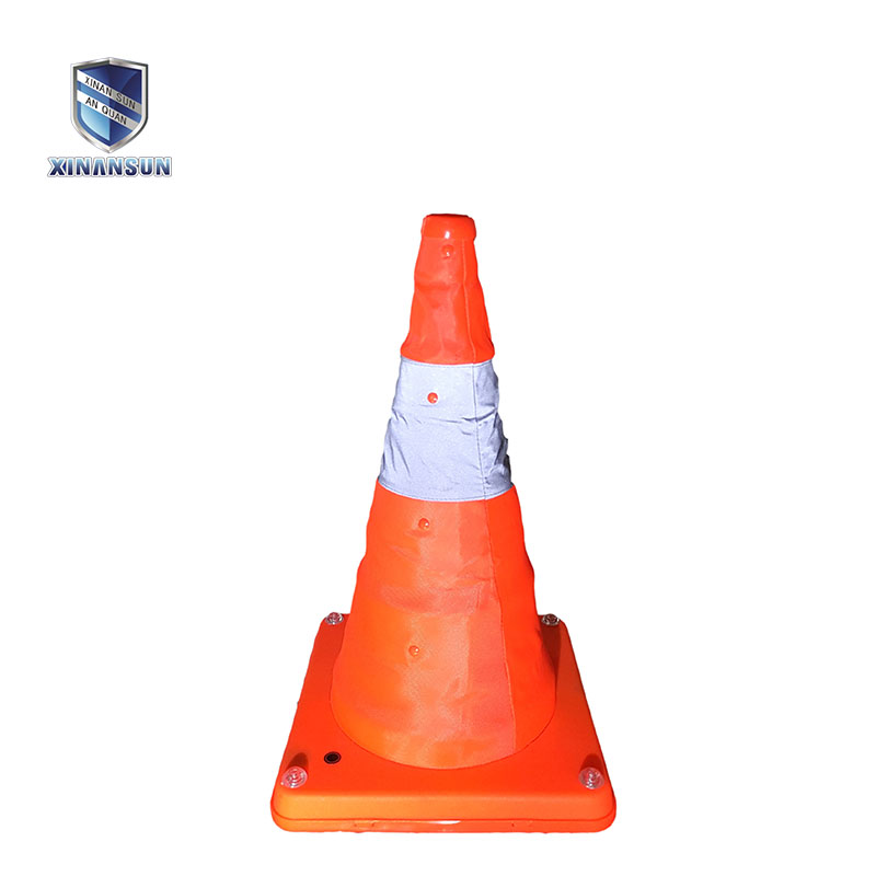 rechargeable telescopic road cone