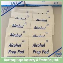 almohadilla de preparación de alcohol estéril no esterilizada con fábrica