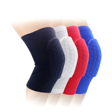 Lycra honeycomb knee sleeve basketbal