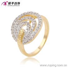 Xuping очарование простой натяжной Желобчатый ювелирные изделия кольцо с двумя камнями 13675