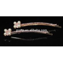 Fashion Metal Rhinestone bobby pin Barres de cristal perlées