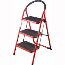 Escalera de tres escalones con mango, escalera de metal, escalera de acero inoxidable coloreada