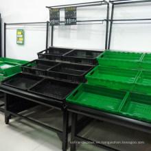 Estantes de exhibición de frutas y verduras de supermercado soporte de estante