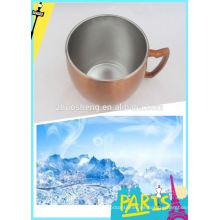 taza de acero inoxidable al aire libre caliente impresa precio respetuoso del medio ambiente