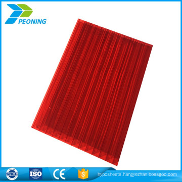 Uv coated twin wall frosted polycarbonate hollow sheet