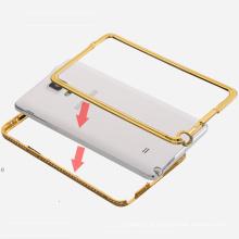 Caso de pára-choques de diamante de luxo para Samsung Galaxy Note 4