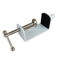 High Quality Furniture Powder Coated Metal Table Clamp For Acrylic Desk Screen