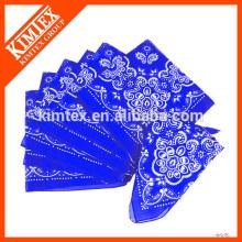 Bandanas de coton imprimé en gros à bas prix sur mesure