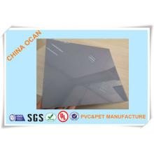 Серый лист PVC +2ПЕТ для холодной гибки