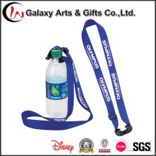 Correa para el cuello personalizado para agua de botella botella sostenedor de la correa para el cuello con el Logo