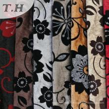 100% polyester floqué tissu nouveau design